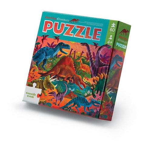 Puzzle aluminium Les dinosaures  - 60 pièces