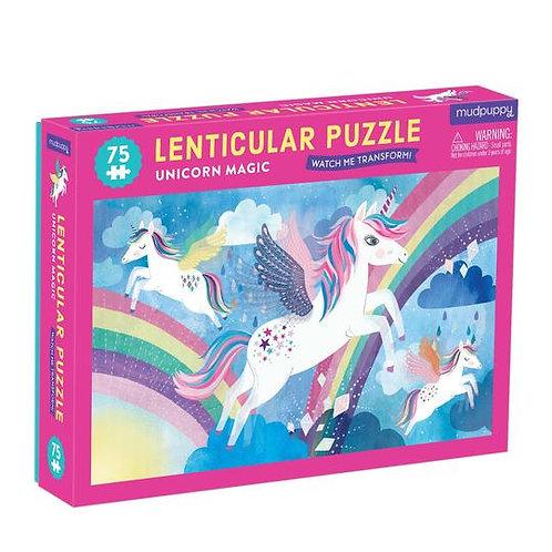 Puzzle illustration lenticulaire licorne