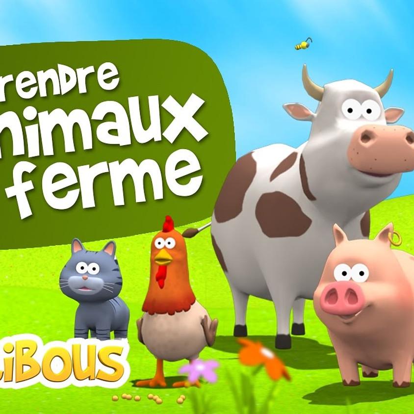 Atelier multi-activités 12 à 30 mois - thème les animaux - mercredi