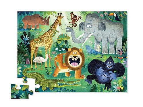 Puzzle animaux sauvages : 36 pièces