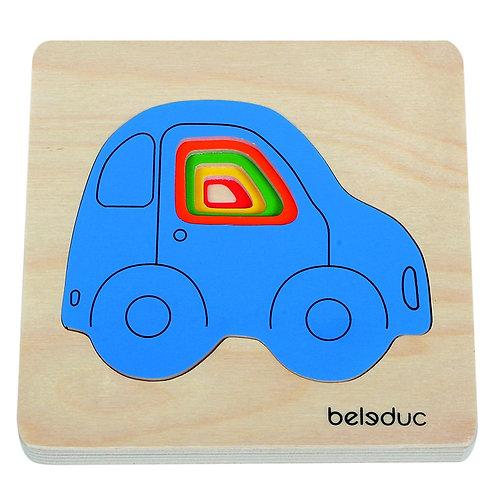 Puzzle voiture multicouches