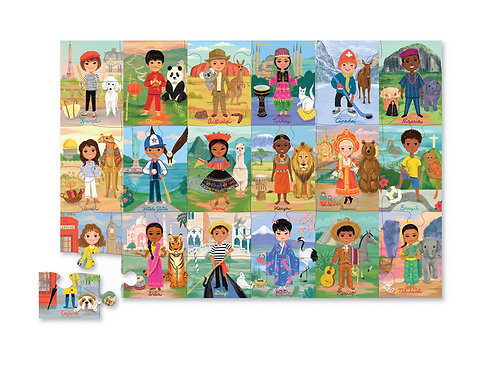 Puzzle enfants du monde : 36 pièces