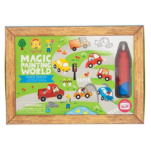 Tableau magique eau - voiture