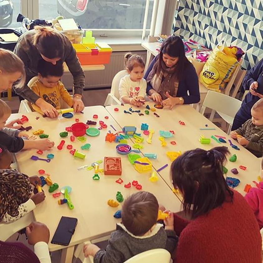 Atelier multi-activités 12 à 30 mois - thème les couleurs - vendredi