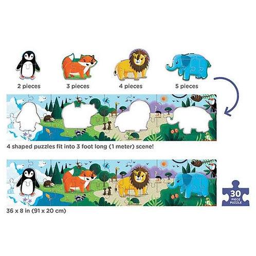 Mon long puzzle animaux