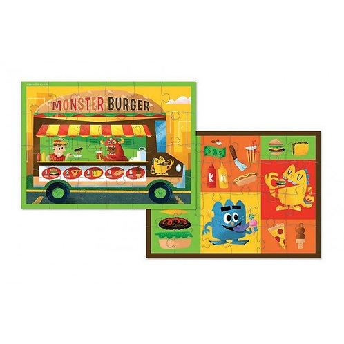 Puzzle food truck réversible : 24 pièces