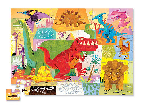Puzzle dinosaures : 72 pièces