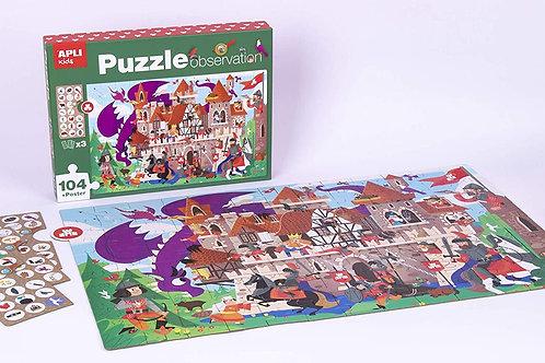 Puzzle observation : château fort 104 pièces