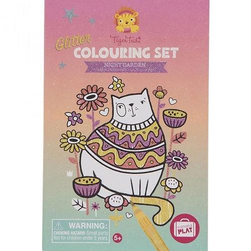 Set de coloriage paillettes - jardin