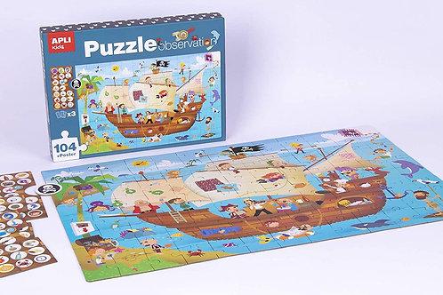 Puzzle observation : Bateau de pirate 104 pièces