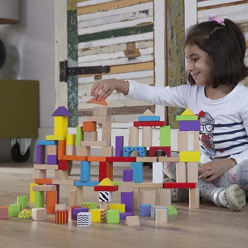 Baril de cubes fantaisies 100 pièces