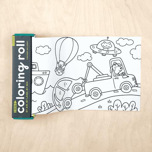 Mini rouleau à colorier : véhicules
