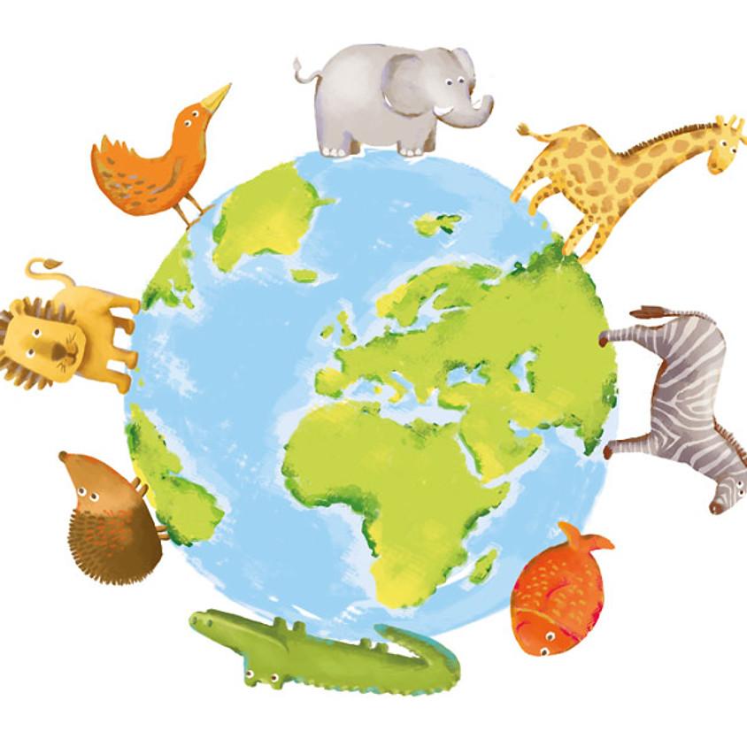 Atelier multi-activités 12 à 48 mois - Thème comptines et animaux du monde - mercredi