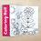 Thumbnail: Grand rouleau à colorier : fleurs