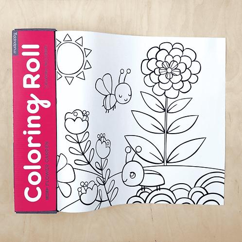 Grand rouleau à colorier : fleurs