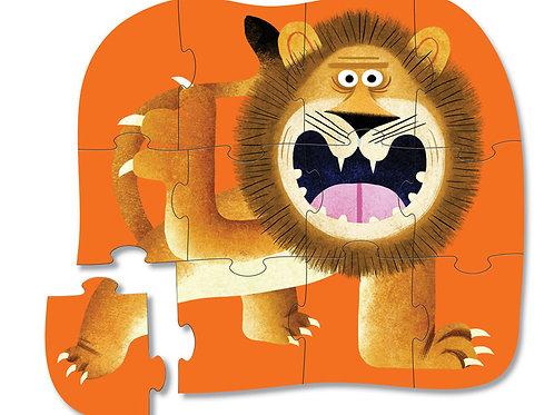 Puzzle lion : 12 pièces