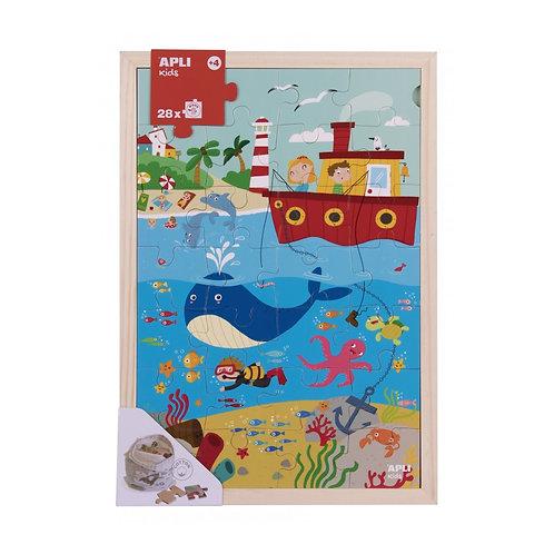 Puzzle en bois : L'océan