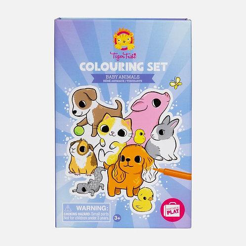 Set de coloriage - bébés animaux