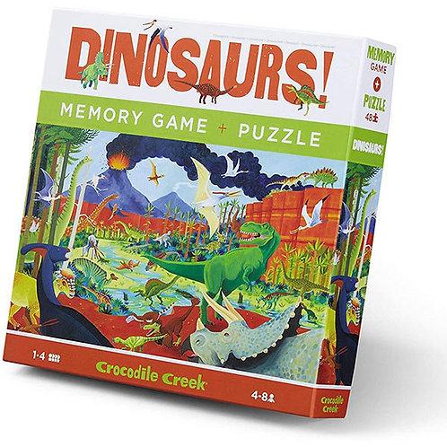 Puzzle et jeu de mémoire : dino