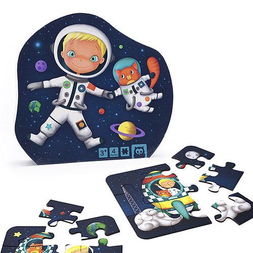 Puzzle évolutif 4 en 1 : astronaute