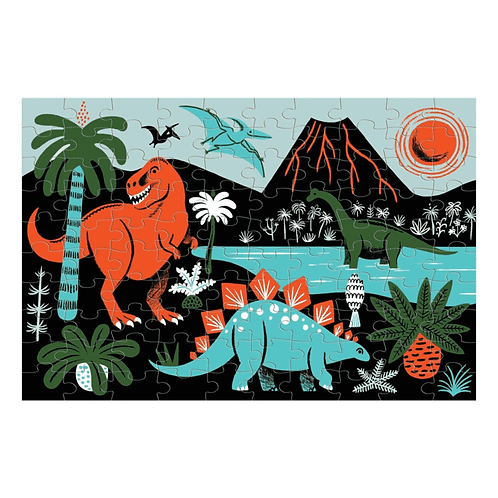 Puzzle fluorescent : dinosaures 100 pièces