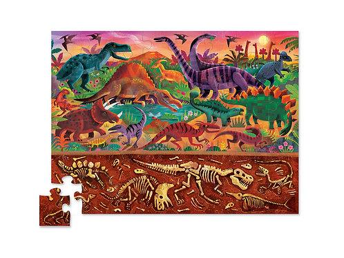 Puzzle opposés dinosaures - 48 pièces