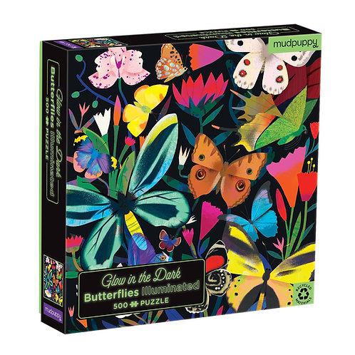 Puzzle fluorescent : papillons 500 pièces