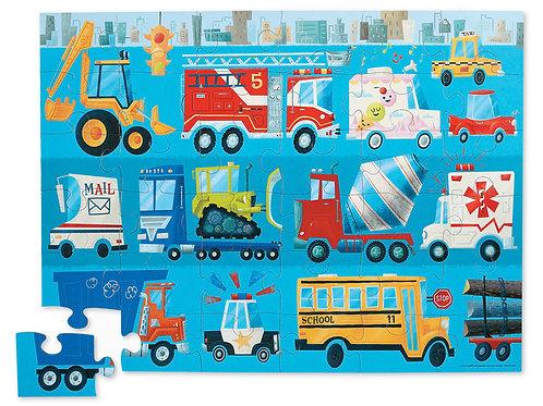 Puzzle véhicules : 36 pièces