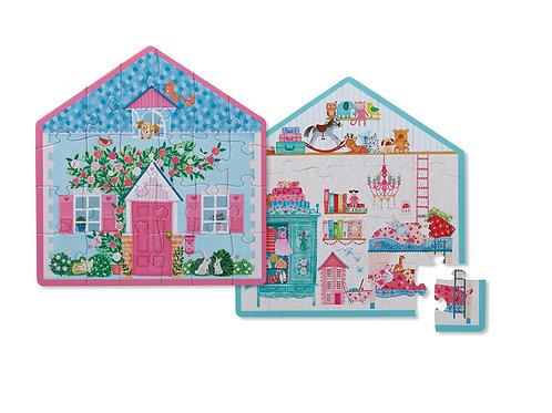 Puzzle maison réversible : 24 pièces