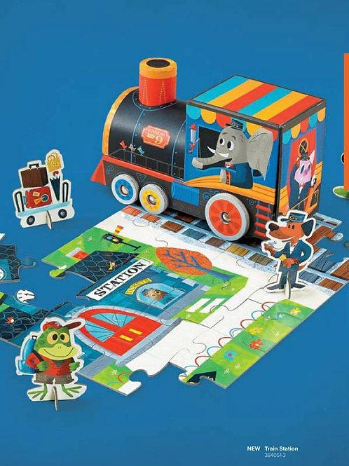 Puzzle - jouet train : 24 pièces