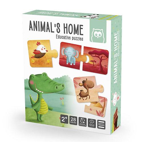 Puzzle habitats Montessori