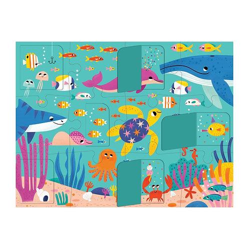 Puzzle 12 pièces à rabats - océan