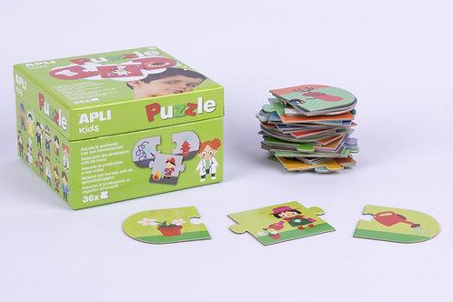 Puzzle Professions : 3 pièces