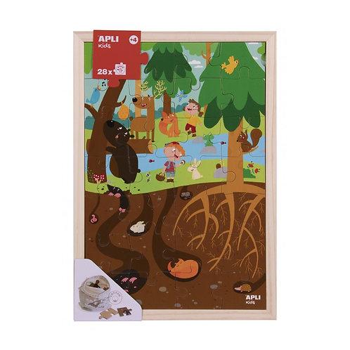 Puzzle en bois : La forêt