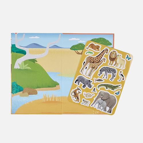 Livre autocollant : Safari