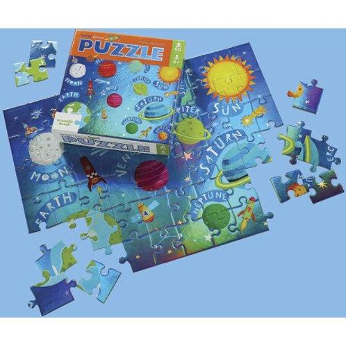 Puzzle aluminium l'espace - 60 pièces