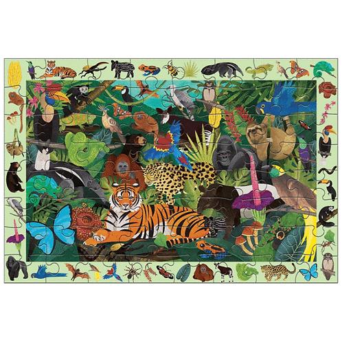 Puzzle cherche et trouve : forêt tropicale