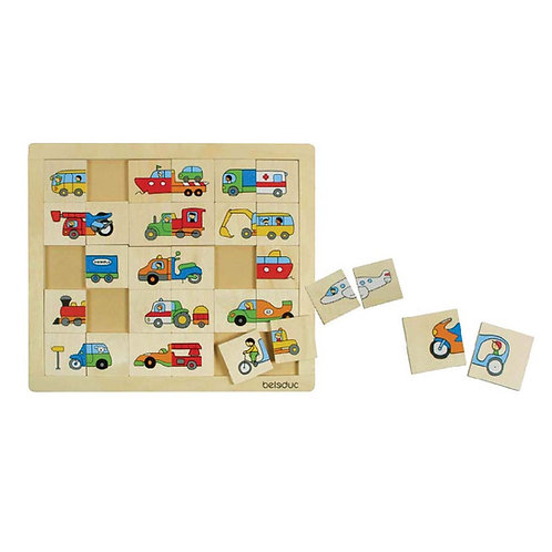 Puzzle : mix and match - Transports