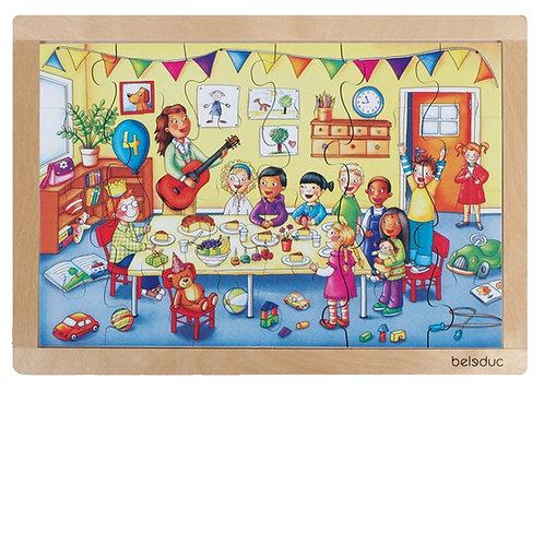 """Puzzle """"l'anniversaire"""" 24 pièces en bois"""
