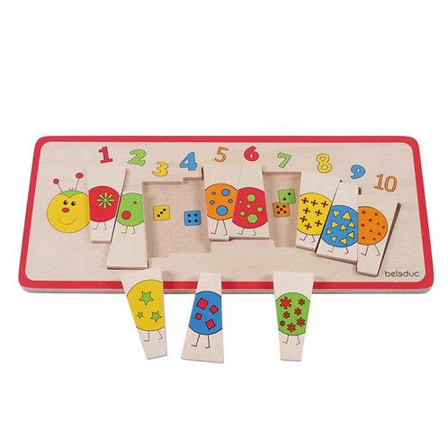 Puzzle : chenille et nombres