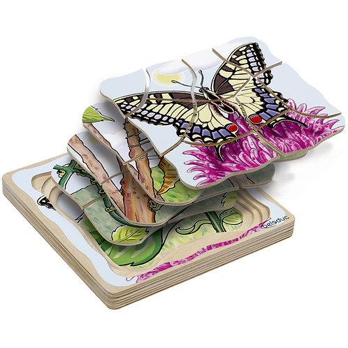Puzzle papillon multicouches