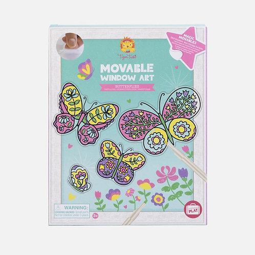 Stickers vitraux : papillons