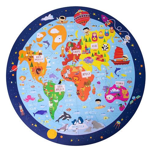 Puzzle mappemonde (48 pièces)