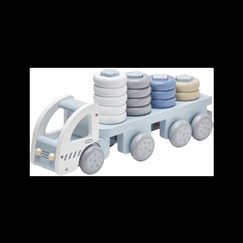Camion à anneaux bleus