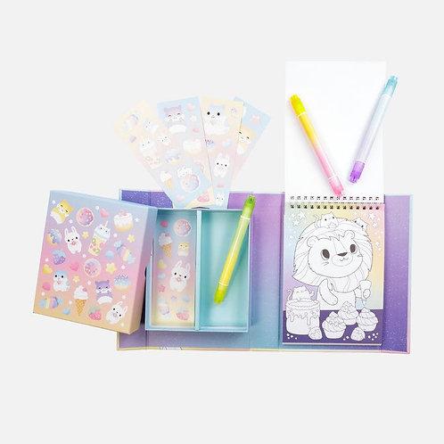 Set de coloriage - créatures kawaii