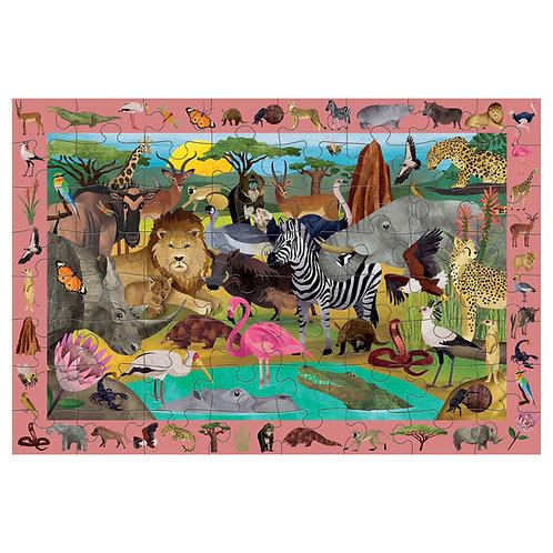 Puzzle cherche et trouve : safari