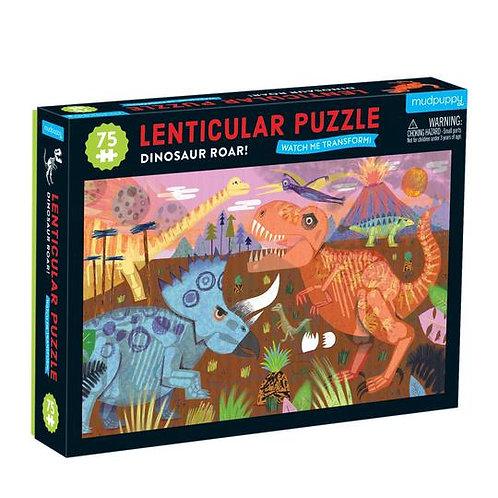 Puzzle illustration lenticulaire dinosaures