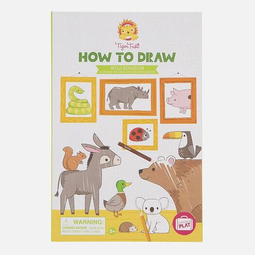 Apprendre à dessiner - animaux sauvages