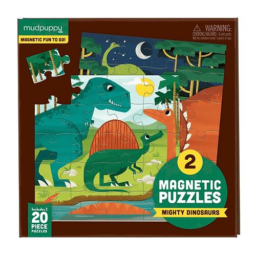 Puzzles magnétiques 20 pièces - dinosaures