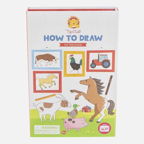 Apprendre à dessiner - animaux ferme